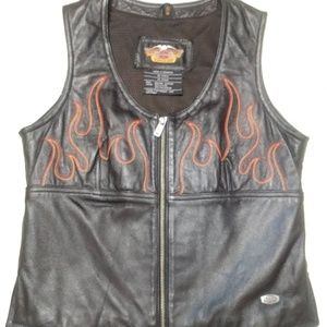Harley-Davidson ladies flame vest leather